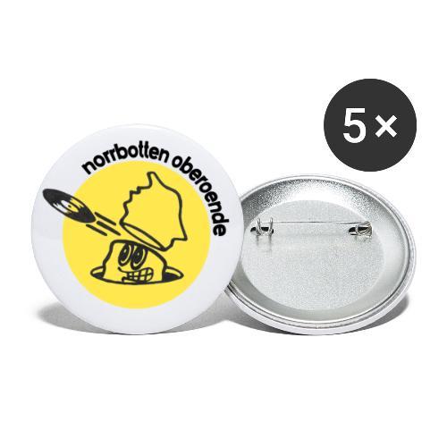 Norbotten Oberoende - Stora knappar 56 mm (5-pack)