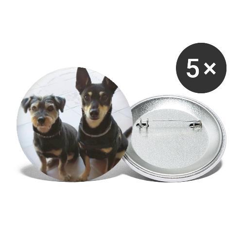 Cani - Confezione da 5 spille grandi (56 mm)