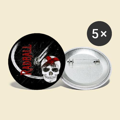 Radball | Cycle Ball Skull | Muster - Buttons groß 56 mm (5er Pack)