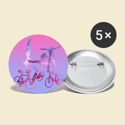 Kunstrad | Balance Muster - Buttons groß 56 mm (5er Pack)