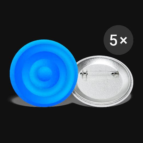 Water Circle - Buttons groß 56 mm (5er Pack)