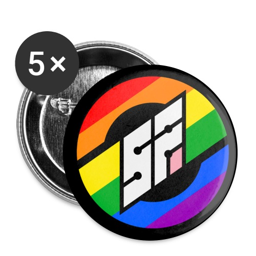 SotonFurs Pride Roundel Backed - Buttons large 2.2''/56 mm (5-pack)