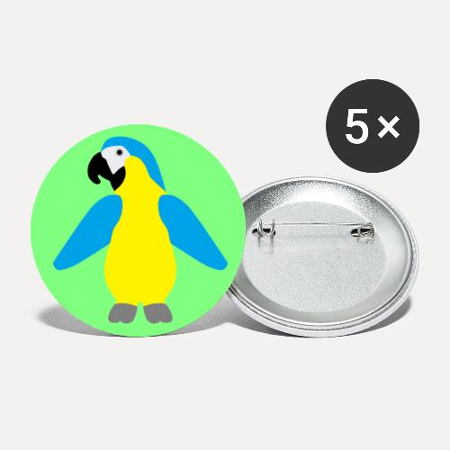 Yellow-breasted Macaw - Buttons large 2.2''/56 mm (5-pack)