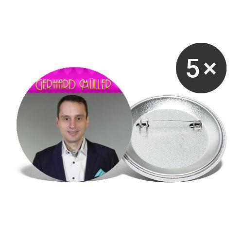 Foto und Logo von Gerhard Müller - Buttons groß 56 mm (5er Pack)