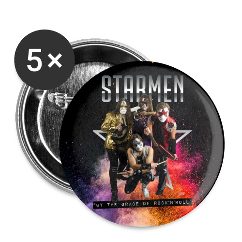 Starmen - By the Grace of Rock 'n' Roll - Buttons large 2.2''/56 mm(5-pack)