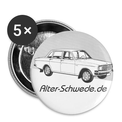 144 Alter Schwede - Buttons groß 56 mm (5er Pack)