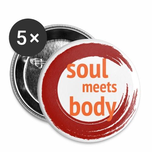 Logo soul meets body o Sc - Buttons groß 56 mm (5er Pack)