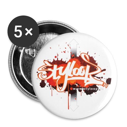 Styloop Sticker Neu 2017 png - Buttons groß 56 mm (5er Pack)