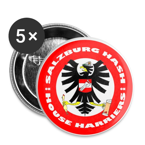 Salzburg Hash Logo - Buttons large 2.2''/56 mm (5-pack)