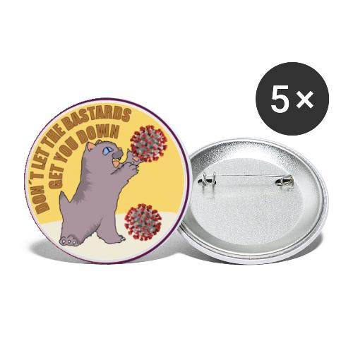 Cat vs. Virus - Buttons groß 56 mm (5er Pack)