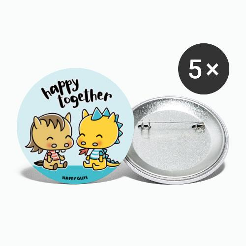 Happy Together - Buttons groß 56 mm (5er Pack)