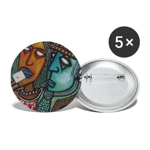 As de coeurs - Buttons groß 56 mm (5er Pack)