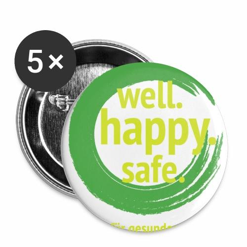 wellhappysafe - Buttons groß 56 mm (5er Pack)