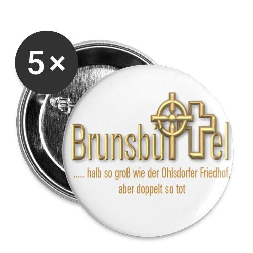 halb so gross wie - Buttons groß 56 mm (5er Pack)