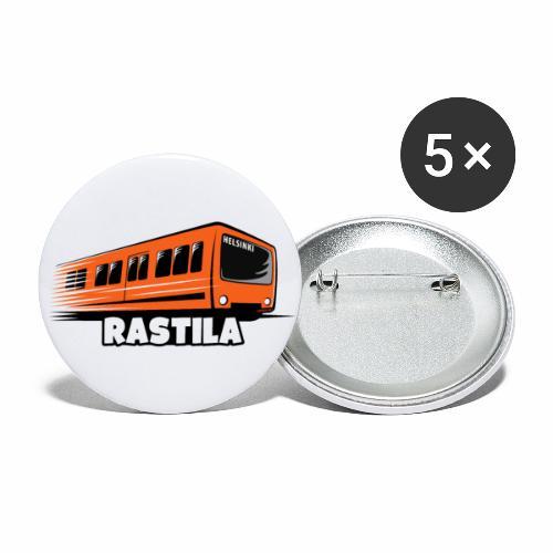 RASTILA Helsingin metro t-paidat, vaatteet, lahjat - Rintamerkit isot 56 mm (5kpl pakkauksessa)