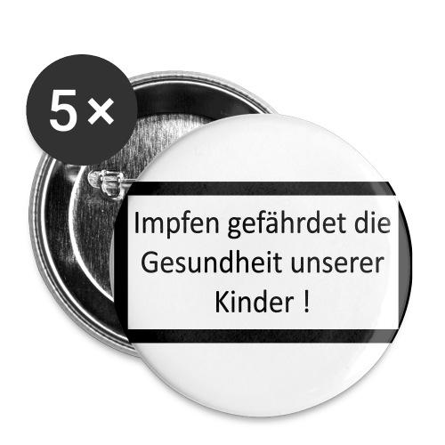 Impfen gefährdet vegtor - Buttons groß 56 mm (5er Pack)