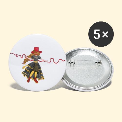 Ladybird - La célèbre uchronaute - Lot de 5 grands badges (56 mm)
