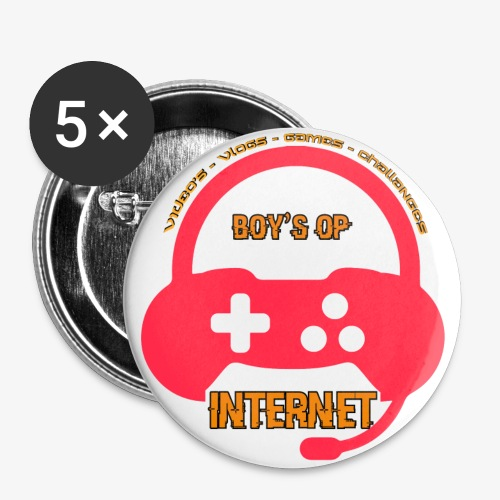 LOGO IN HOGE RESOLUTIE png - Buttons groot 56 mm (5-pack)