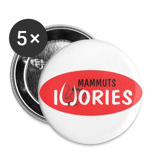 P Ivories Logo - Buttons groß 56 mm (5er Pack)