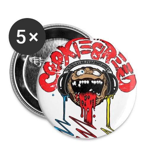 Cookie Halb - Buttons groß 56 mm (5er Pack)