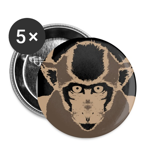 Monkey (Macaca fascicularis) - Buttons large 2.2''/56 mm (5-pack)