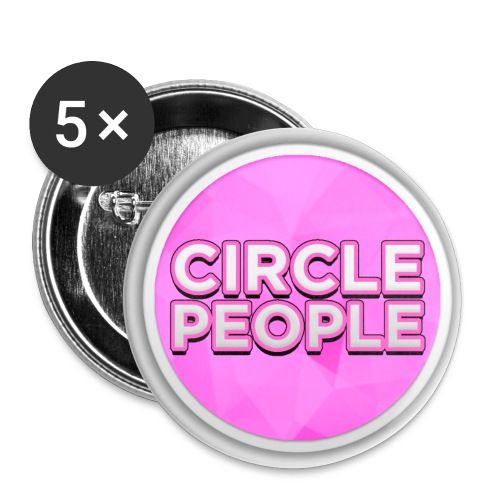 CirclePoopple png - Buttons large 2.2''/56 mm (5-pack)