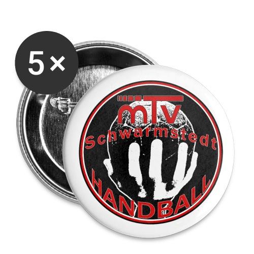 handballlogofertig farbieg - Buttons groß 56 mm (5er Pack)