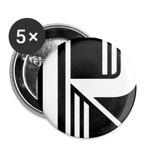 Motif en K - Lot de 5 grands badges (56 mm)
