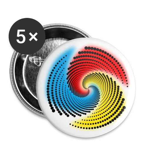 Farbspirale - Buttons groß 56 mm (5er Pack)
