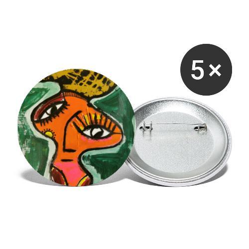 L A D Y print - Stor pin 56 mm (5-er pakke)