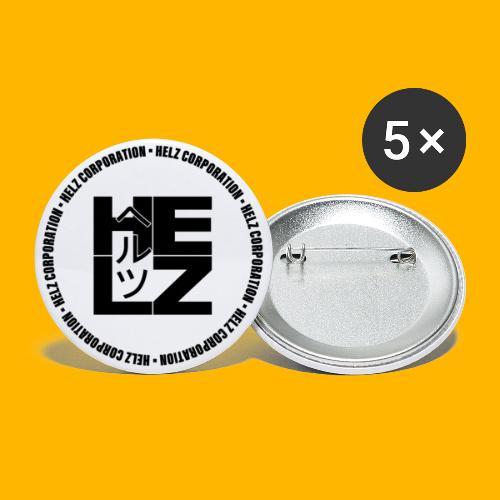 HELZ CORPORATION - Lot de 5 grands badges (56 mm)