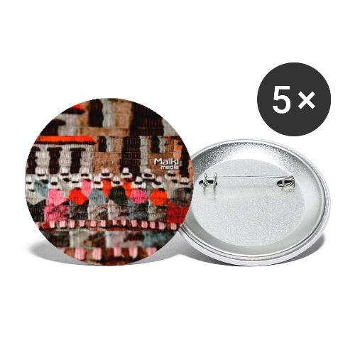 Telar inca - Buttons groß 56 mm (5er Pack)