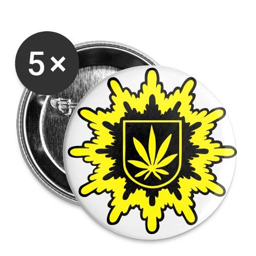 Bundeshanfschutz block pur 2farbig - Buttons groß 56 mm (5er Pack)
