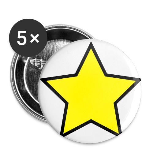 Star - Stjerne - Buttons large 2.2''/56 mm(5-pack)