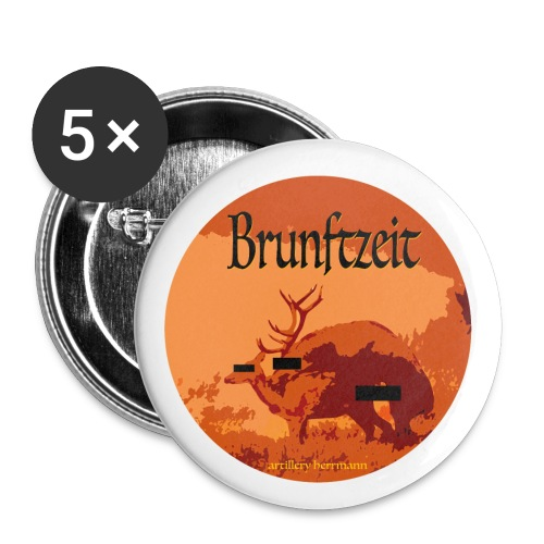 brunftzeit - Buttons groß 56 mm (5er Pack)