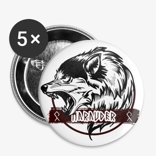 MARAUDER WOLF transparant - Buttons large 2.2''/56 mm(5-pack)