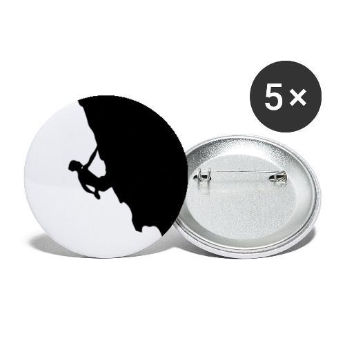 Kletterer in schwarz - Buttons groß 56 mm (5er Pack)