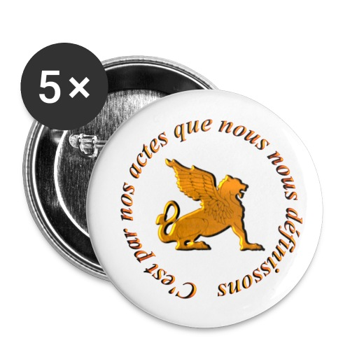 Slogan Escouade Griffons - Lot de 5 grands badges (56 mm)