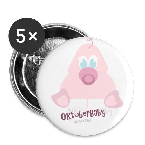 oktoberbaby - Stor pin 56 mm (5-er pakke)