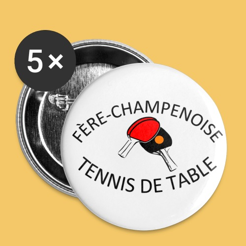 Logo fère 2018 - Lot de 5 grands badges (56 mm)