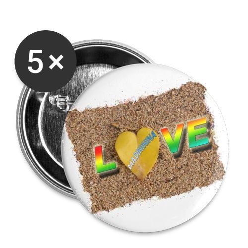 love,madinina - Lot de 5 grands badges (56 mm)