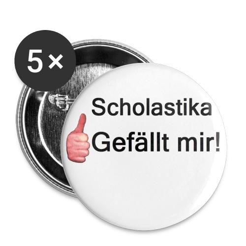 Scholastika der Schüler - Buttons groß 56 mm (5er Pack)