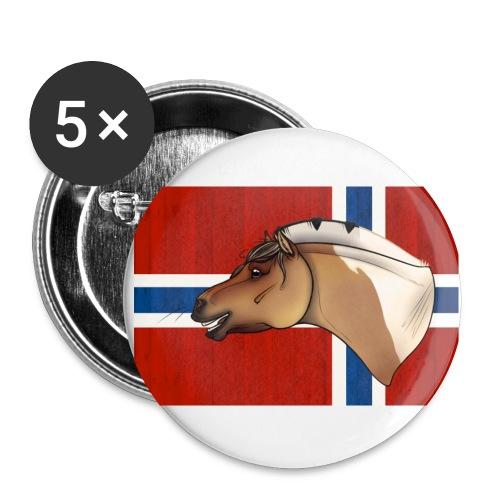Rudi Pon Norway. - Stor pin 56 mm (5-er pakke)