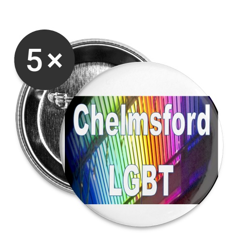 Chelmsford LGBT - Buttons large 2.2''/56 mm(5-pack)