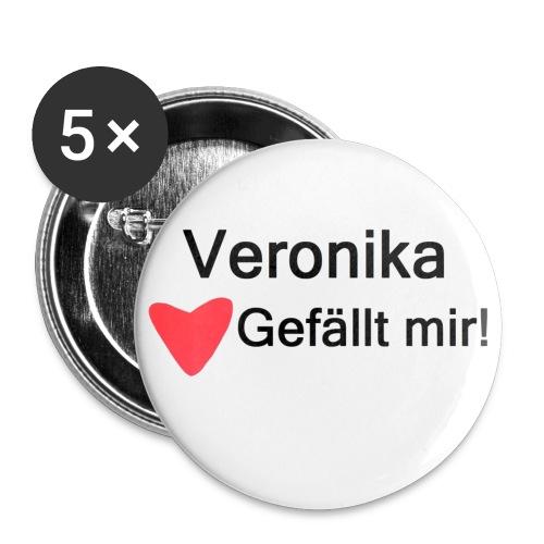 Veronika Siegbringerin - Buttons groß 56 mm (5er Pack)