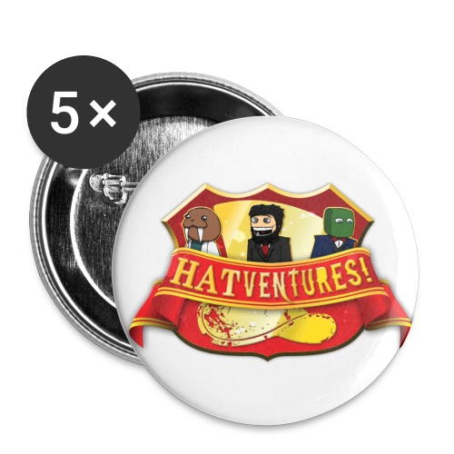 Hatshield Logo - Buttons large 2.2''/56 mm (5-pack)