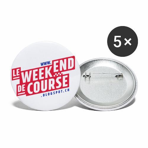 le week-end de course - Logo - Vert - Lot de 5 grands badges (56 mm)