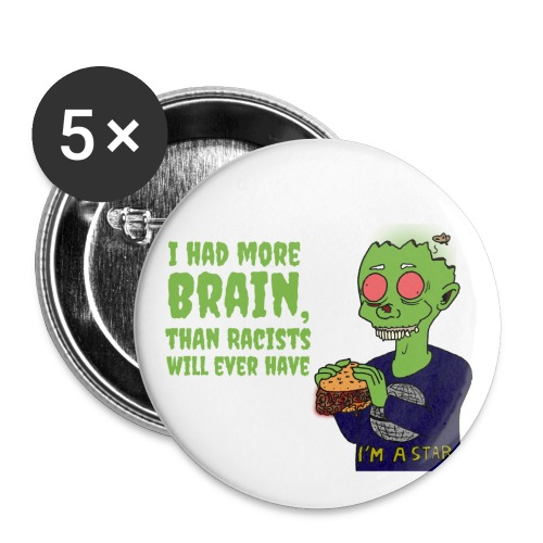 Had Brain - Buttons large 2.2''/56 mm (5-pack)