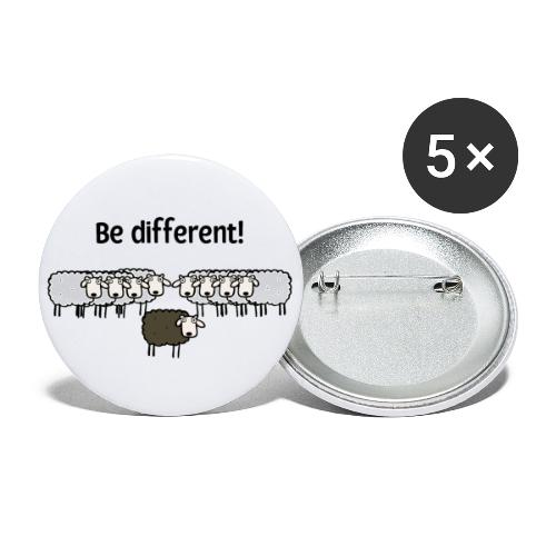 Be different - Buttons groß 56 mm (5er Pack)