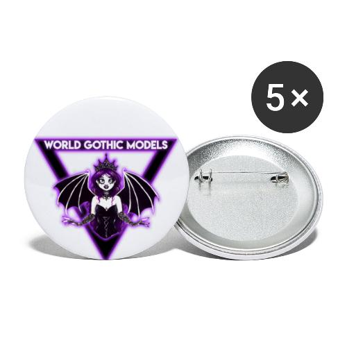 WGM Goth Queen 2021 Merch - Buttons large 2.2''/56 mm(5-pack)